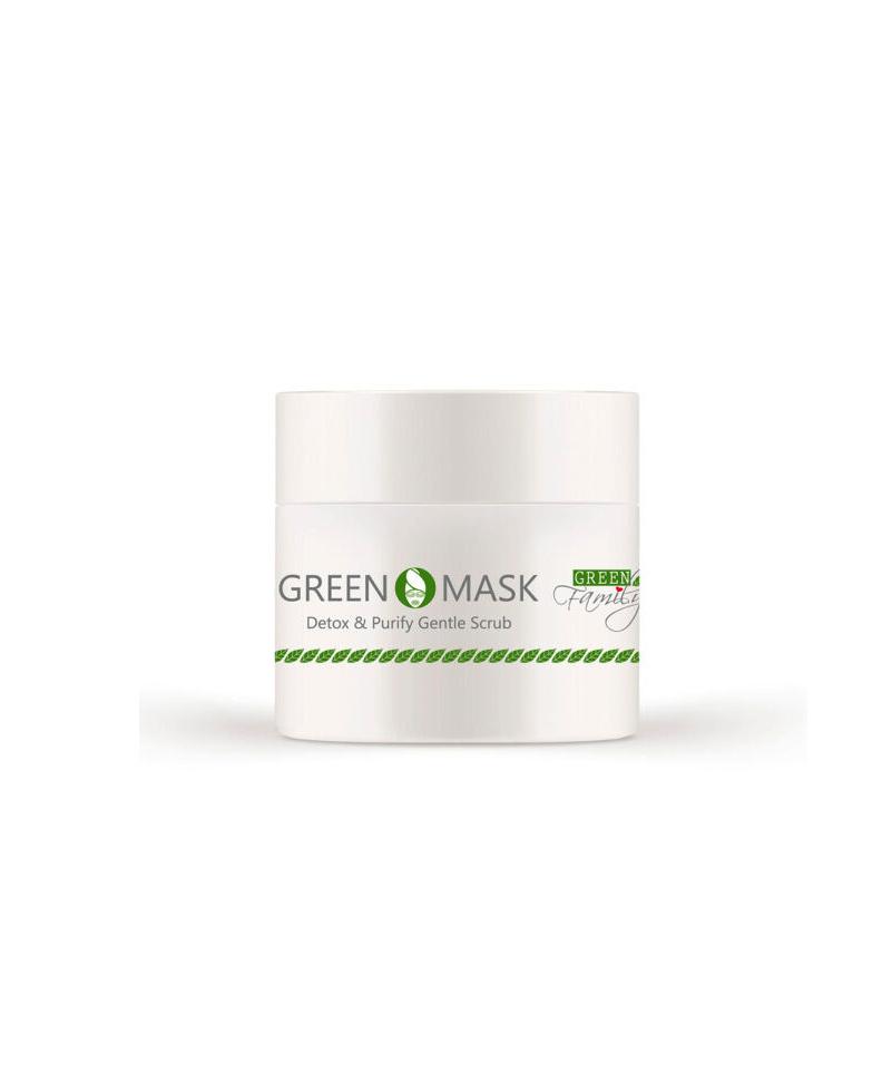 maschera viso all'argilla green mask