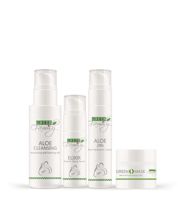 Kit Viso Green Family 4 prodotti Skin care routine