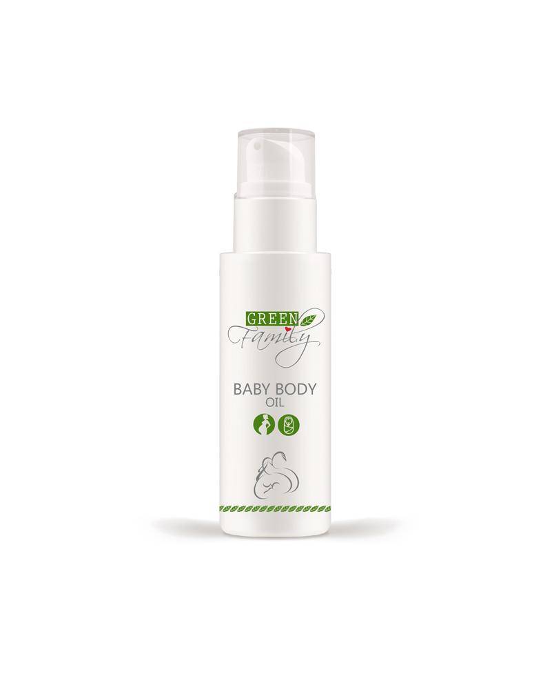baby body oil green family