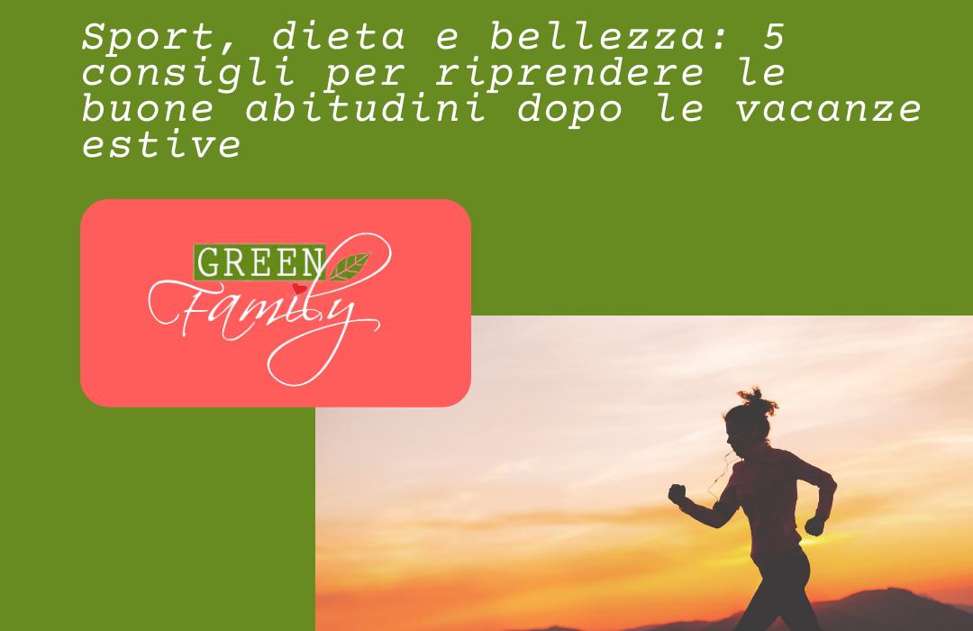 foto corsa con titolo articolo blo g green family